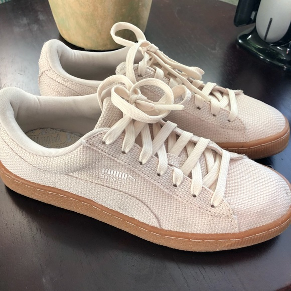 Puma Shoes | Basket Cream Sneakers